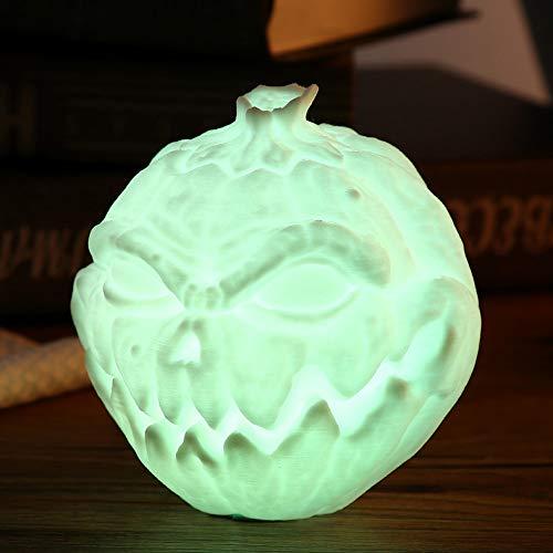 el Kürbis Gesicht Licht Pat Nachtlampe Für Halloween Eingebaute Batterie Mehrere Modi Nachtlichter 7 Licht ()