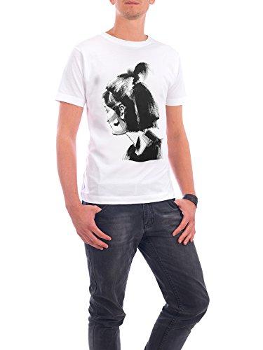 """Design T-Shirt Männer Continental Cotton """"Look Back"""" - stylisches Shirt Menschen Fashion von Sarah Plaumann Weiß"""
