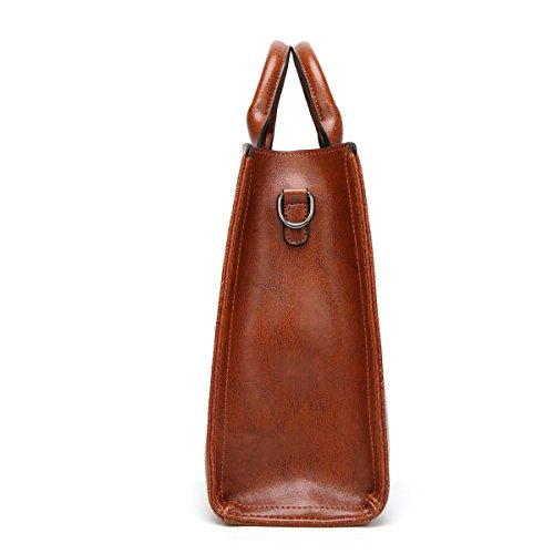 ZPFME Frauen Handtasche Tragbar Einfach Kollokation Umhängetasche Mädchen Party Retro Damen Mode Messenger Bag Handtasche Damen Tasche Geschenk Brown