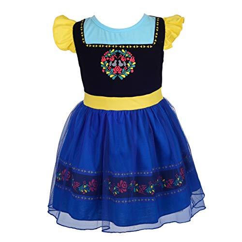 Kostüm Baby Anna - Lito Angels Baby Mädchen Prinzessin Anna Kleid Kostüm Weihnachten Halloween Party Verkleidung Karneval Cosplay Kinder 12-18 Monate