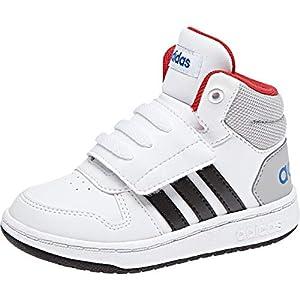 adidas Unisex-Kinder Hoops MID 2.0 Fitnessschuhe, Weiß (Ftwbla/Negbas/Escarl 000), 26.5 EU