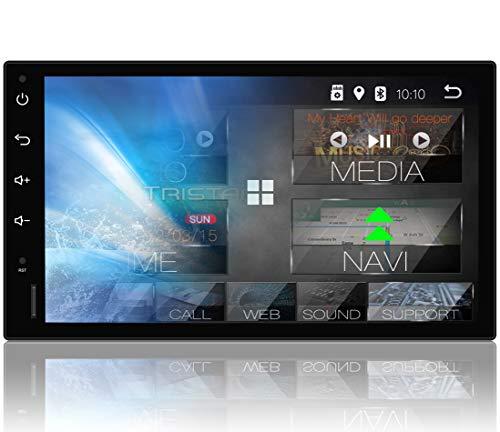 Tristan Auron BT2D7018A Autoradio mit Navi, 7\'\' Touchscreen Bildschirm, Android 8.1, GPS Navi, Bluetooth Freisprecheinrichtung, Quad Core, MirrorLink, USB/SD, OBD 2, DAB+, 2 DIN