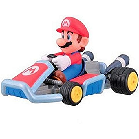 Mario Kart 7 Pullback Racer Car Figure Collection #1 Mario Aprox 2.75