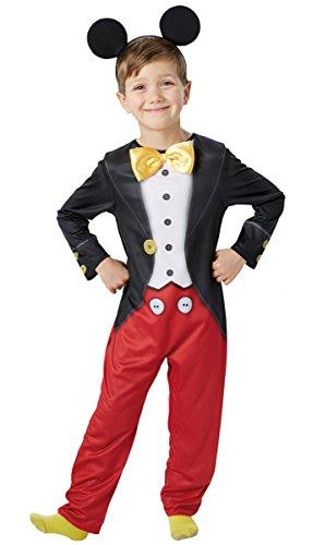 Micky Maus Kostüm Jungen - Rot, 3-4 (Jungen Mickey Maus Kostüm Für)