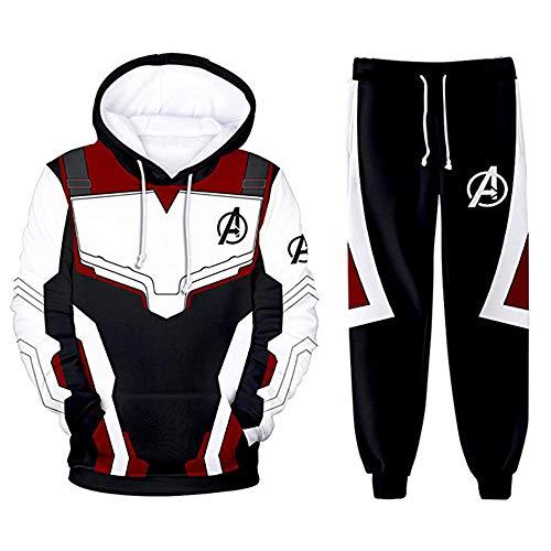 LASPERAL Cosplay Kostüme Quantum Realm Superhero Bekleidungsets Avenger's Endgame Top mit Lange Hose Streetwear (Kostüm Damen Man Iron)