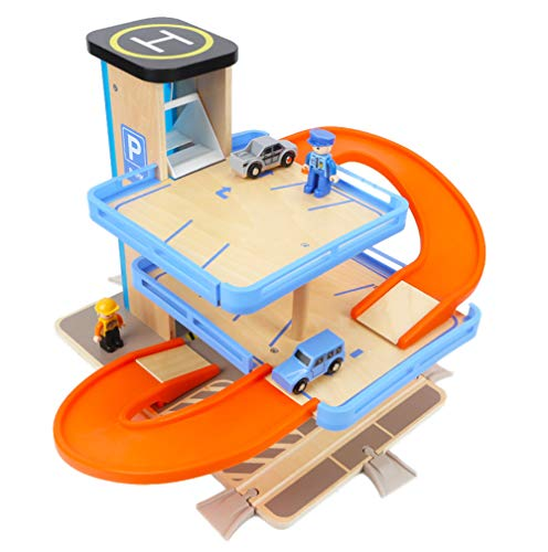 Car Track Slide Montage Gebäude Block DIY Auto Parkplatz Lot Modell Kinderfahrzeug-Kombination Best Boy Gift (Alt 1 Besten Bildungs-spielzeug Jahr)