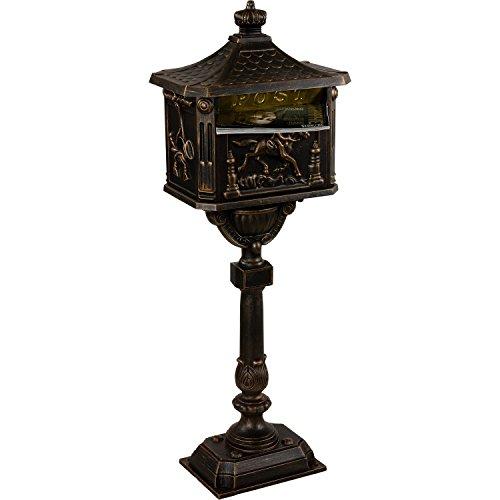 Standbriefkasten Antik in Bronze / In 4 Farben erhältlich - 9