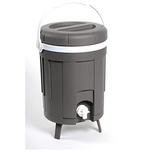 #0618 Getränkespender praktisch und isolierend mit Tragegriff 8 Liter • Dispenser Wasser Saft Spender Zapfsäule Garten Outdoor Zapfhahn (Zapfsäule Getränke Spender)