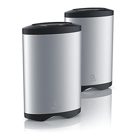 CSL - 2 x Handwärmer mit Powerbank Funktion   Taschenwärmer / 2 Temperaturwärmestufen   externer Handyakku mit 5200mAh / wiederaufladbar über USB   robustes Aluminiumgehäuse