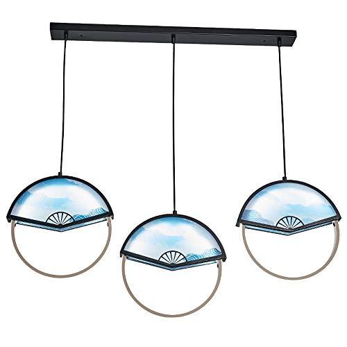 Led in stile giapponese creativo lampada a sospensione in acrilico rotondo anello sector lampada da soffitto regolabile filo sospeso bar lampadario corridoio corridoio apparecchio di illuminazione