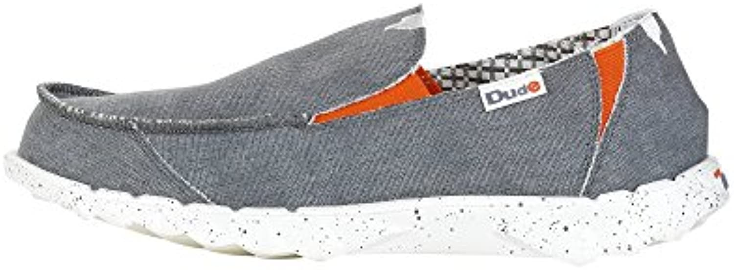 Dude Hey Farty Funk Slipper Stahl Grau/Orange   Stahl/Orange  13 UK