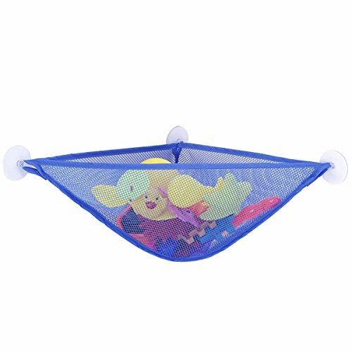 Bad Speicher (Bad Spielzeug Organisator Kinderbadewannen Spielzeug Speicher Hängematte Spielzeug Speicher Netz mit 3 starken Saug-Schalen Badezimmer-Speicher Spielzeug Tasche)