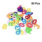 Healifty Filz Zahlen Stoff Spielzeug für DIY Handwerk Kinder 50 stücke (Mischfarbe und Buchstaben)