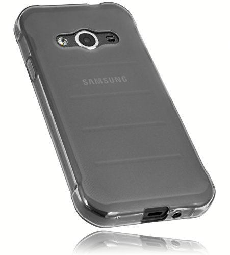mumbi Schutzhülle Samsung Galaxy Xcover 3 Hülle transparent schwarz