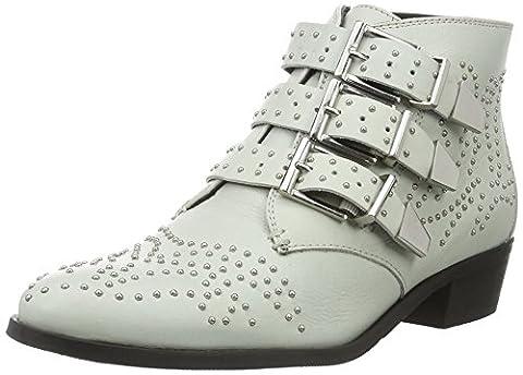 Bronx Damen Reza Biker Boots, Weiß (Off White), 39 EU