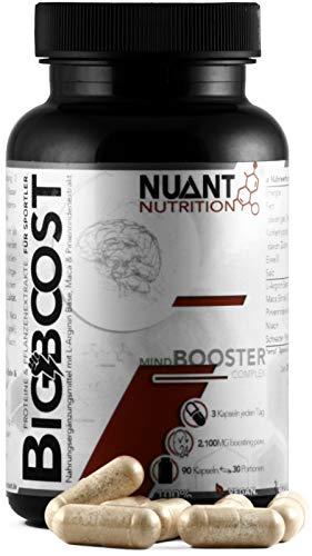 NUANT® - BIG BOOST | Fokus-Booster mit L-Arginin & Maca Extrakt (1 x 90 Kapseln)