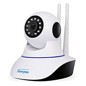 Everycom Wireless 720P HD Wifi Video Monitoring IP Camera With 2 Way Audio For Your Home | Baby | Pets | Business