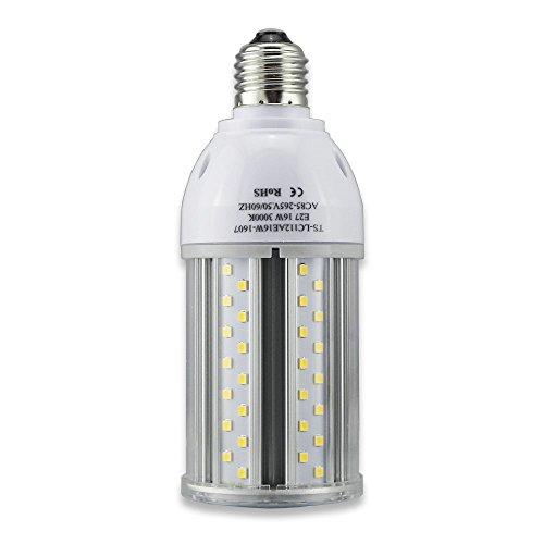 Tongsung LED-Lampen, 16W Warme Weiße(3000K) mit breitem Eingangsspannung AC85V-265V, Super Bright Light Output(1600 LM), mit Aluminiumlegierung Bau und Staubschutz (Schutzstufe : IP64). E27 Cap