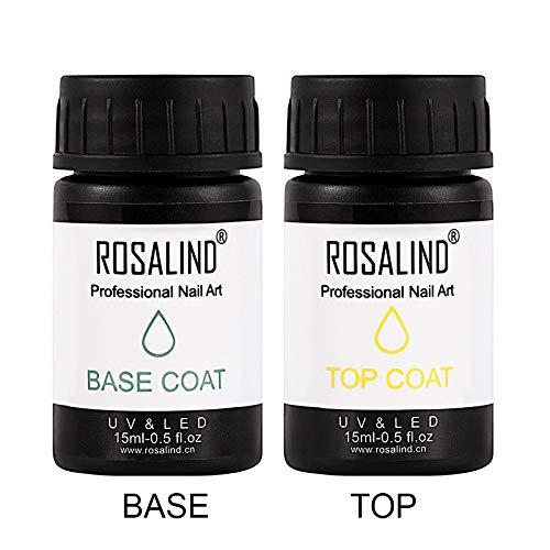 Rosalind 15 ml & 30 ml Nail Gel Basis & Top Coat Nagel Art Gel Lack-off-UV-semi-permanente gummigel-Lack