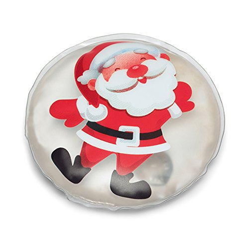 Instant Hand Warmers ((Santa Round) - eBuyGB Pack of 10 Reusable Instant Gel Hand Warmer)