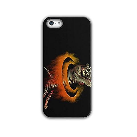 tigre Cirque Hoops Flamme Tour NEUF Noir 3D iPhone 5