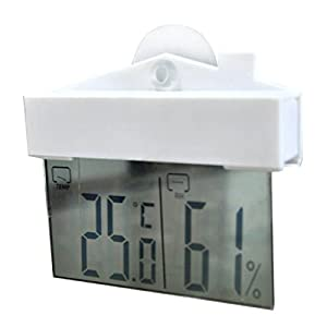 wuudi Mini Temperatur und Luftfeuchtigkeit Thermometer großes LCD-Fenster Thermometer Hydrometer Indoor Outdoor Wireless Sensor Fenster Hydrometer