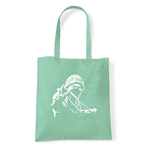 Art T-shirt, Borsa Shoulder ninja-street Menta