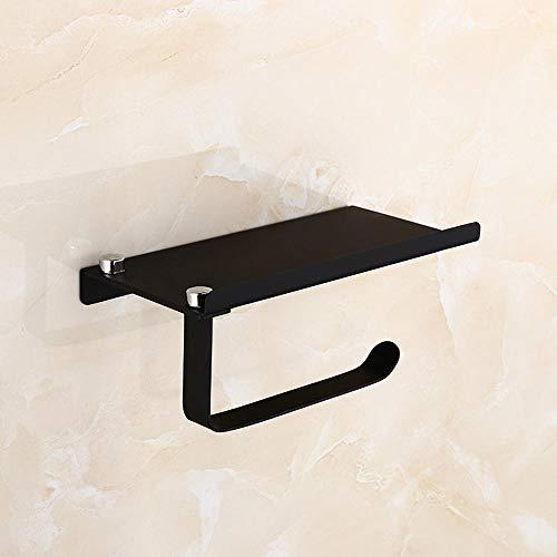 Toilettenpapierhalter Toilet Paper Holder 304 Stainless Steel Roll Holder Bathroom Mobile Phone Rack Tissue Box @201 Black Mobile Black-box