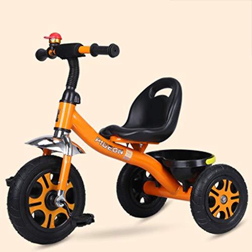 XP Kinderwagen-Baby Laufkatze 1-6 Jahre alt Leichtbau Fahrrad Nicht-Aufblasbare Explosionsgeschützte Titan Leere Rad Fahrrad,Orange -