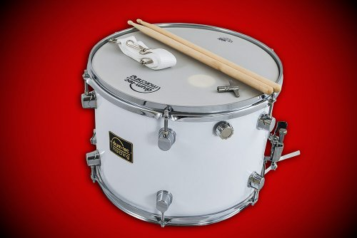 "drum-tec Marching Classic Line Marching Snare / Fan-Trommel + Zubehör Größe: 14""x10"" (35 x 25 cm) MIT REMO Ambassador Fell! (Modell: MSC-14B)"