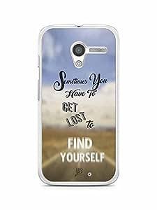 YuBingo Get Lost to Find Yourself Designer Mobile Case Back Cover for Motorola X