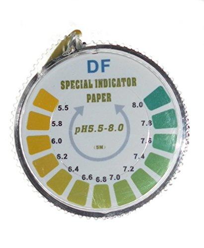 pH-Indikator Lackmus-Test Papier-Streifen Roll, 5,5-8 Für Wasser Urin und Speichel - 5 Meter