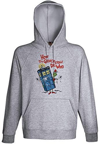 Grinch Stole Dr Who Parody Movie Fan Hoodie Custom Made Hooded Sweatshirt ()
