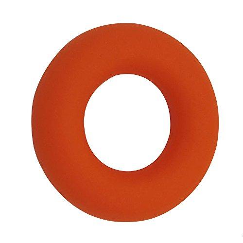 Eizur Anello Mano Pinza Silicone Presa Impugnatura Molle Mano Rinforzante Forza Ginnico Polso Avambraccio Formazione Maniglia Resistenza Gripper Dita per Allenamento resistenza per sollevamento pesi Fitness Formazione 3 Livelli è aumentato Arancione