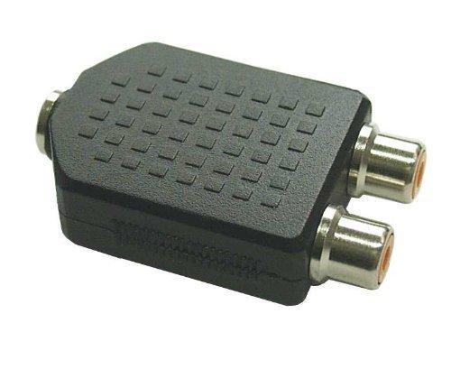 Audio Adapter - 3,5mm Klinke Buchse Stereo an 2x Cinch Buchse (3 Stück) 2 Component Audio