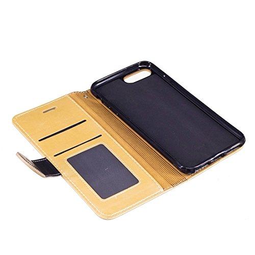 Hülle für iPhone 7 plus , Schutzhülle Für Samsung Galaxy A7 (2017) / A720 Litchi Textur Horizontale Flip Leder Tasche mit Call Display ID ,hülle für iPhone 7 plus , case for iphone 7 plus ( Color : Ro Gold