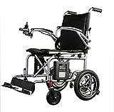 Leggera Sedia a rotelle elettrica Pieghevole con Posizionamento GPS Funzione Intelligent Automatic Anziani disabili transito Scooter Batteria al Litio 6Ah, Resistenza 8-12Km
