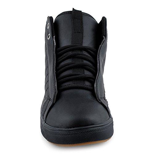 Fivesix Mens Scarpe Sportive Sneaker Alta Top Scarpe Da Basket Trapuntate Scarpe Casual Nere