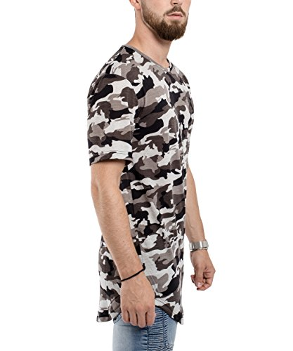 Phoenix Oversize Round T-Shirt Herren Longshirt Long Tee - Langes Shirt S,M  ...