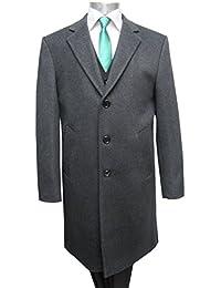 Herren Mantel lang Wool-Kaschmir Muga