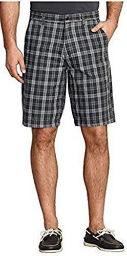 Pantalones Cortos A Cuadros Hombre Eddie Bauer - Negro