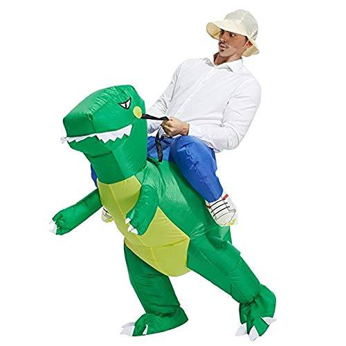 Besteffie Aufblasbares Kostüm in Dinosaurier-Form, Halloween, Cosplay, Kostüme, Anzug für Audlts und Kinder, Large