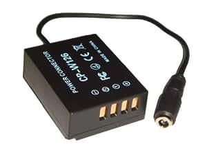 DC coupleur vhbw .Remplace: CP-W126 pour batterie NP-W126, appareils Fujifilm FinePix X-Pro 1, X-E1, X-M1, HS30 EXR, HS30EXR, HS33 EXR, HS33EXR.