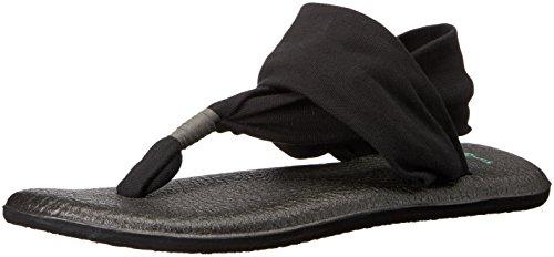 Sanuk Damen Yoga Sling#2 Zehentrenner, Schwarz (Black), 38 EU -