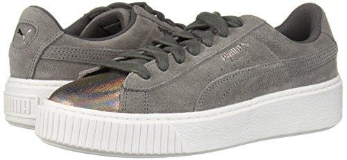 PUMA Women s Suede Platform Lunar Lux Wn Sneaker  Smoked Pearl  7 5 M US