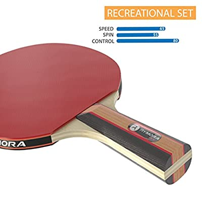 Table Tennis 2 Player Set (2 Bats and 3 Balls) (Perfect for School, Home, Sports Club, Office) - cheap UK light store.
