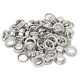 BIG-SAM - Ösen mit Scheiben - 4/5/8/11 oder 14mm in Silber (8mm)