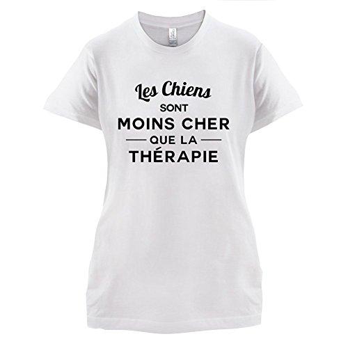 Les chiens sont moins cher que la thérapie - Femme T-Shirt - 14 couleur Blanc