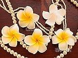 #7: Tradico® 100x Hawaiian Frangipani Foam Plumeria Flower Head Pool Pond Wedding Yellow