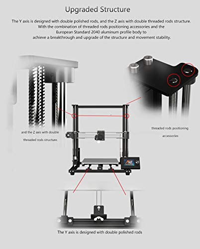 2019 Anet upgraded A8plus integrated desktop FDM metal DIY 3D Printer Kits with large 12864 LCD screen and large bulid volume 300x300x350mm - 3